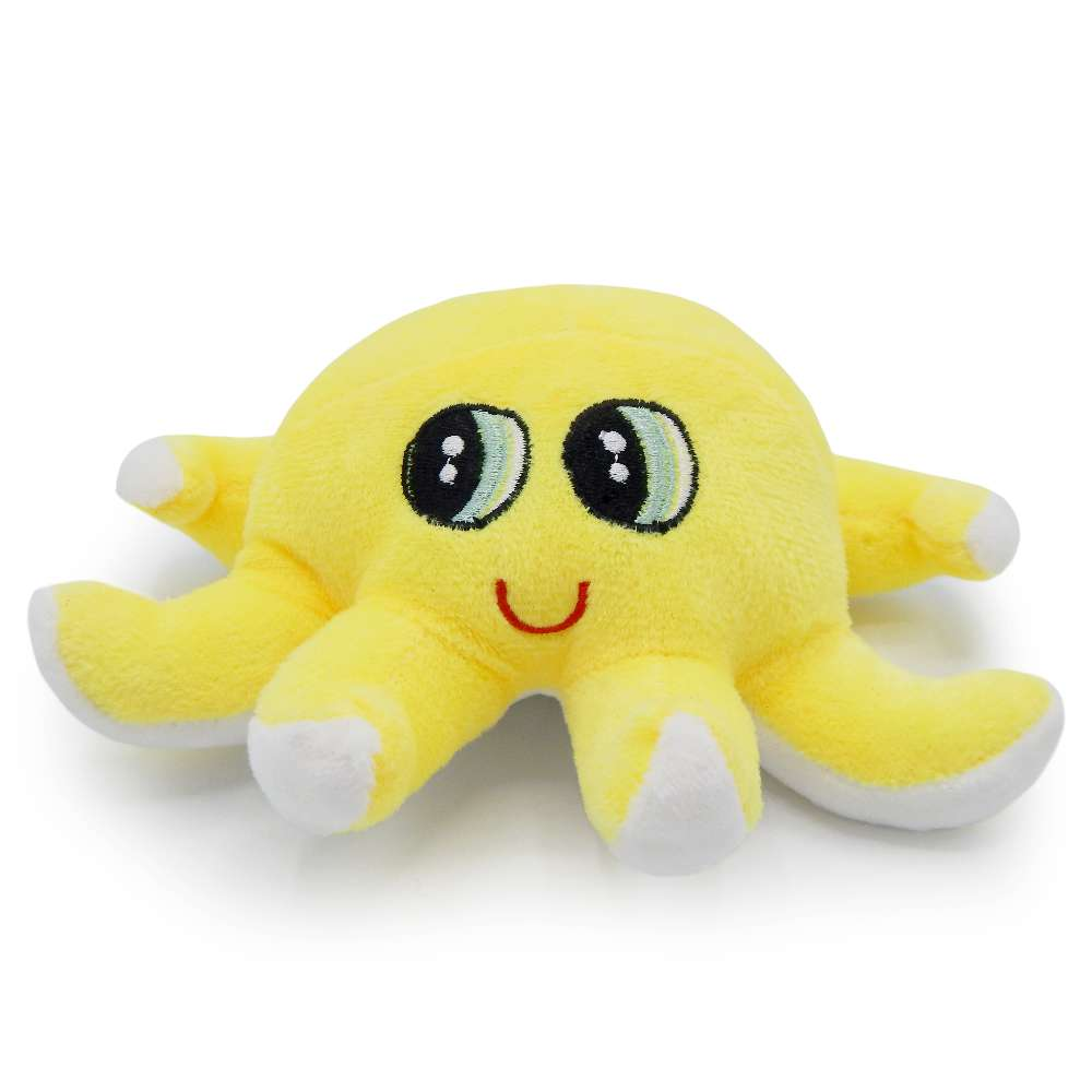 Bichinho de Pelúcia Meu Pet - Pet Toys - Polvo amarelo