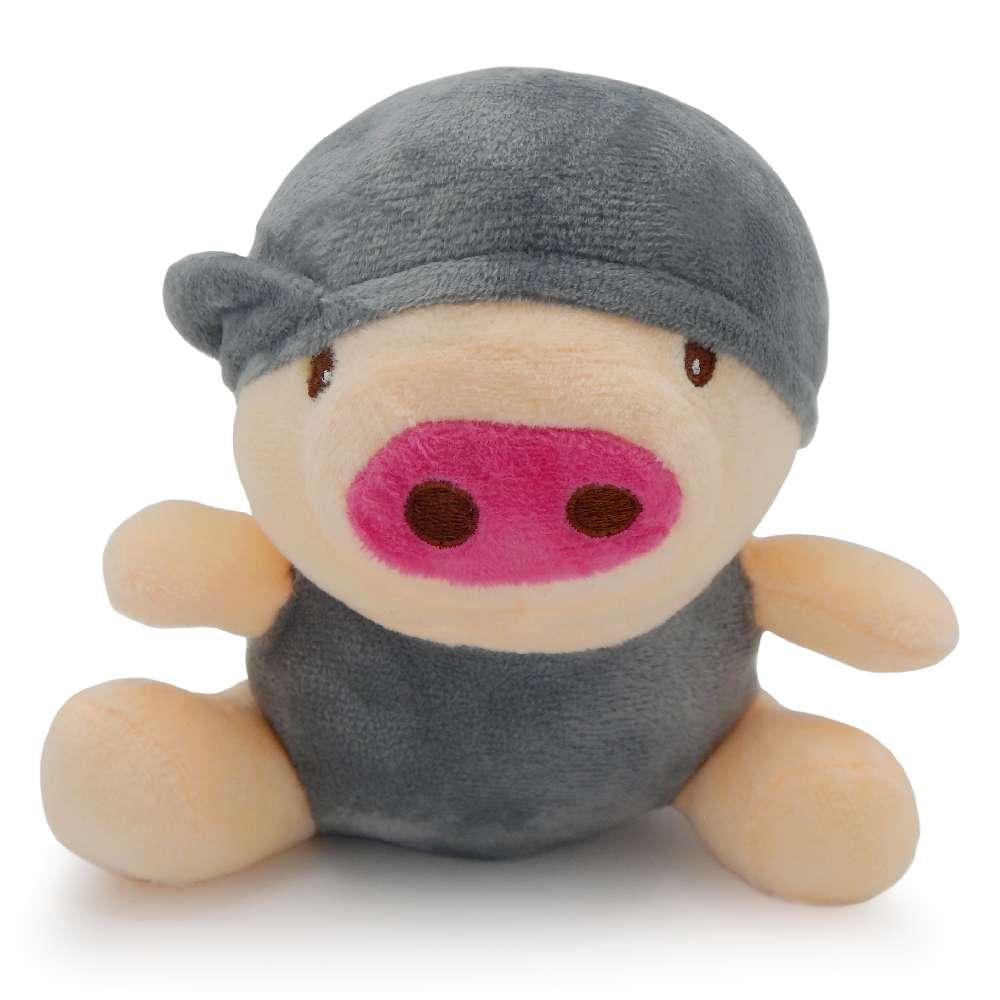 Bichinho de Pelúcia Meu Pet - Pet Toys - Porco cinza