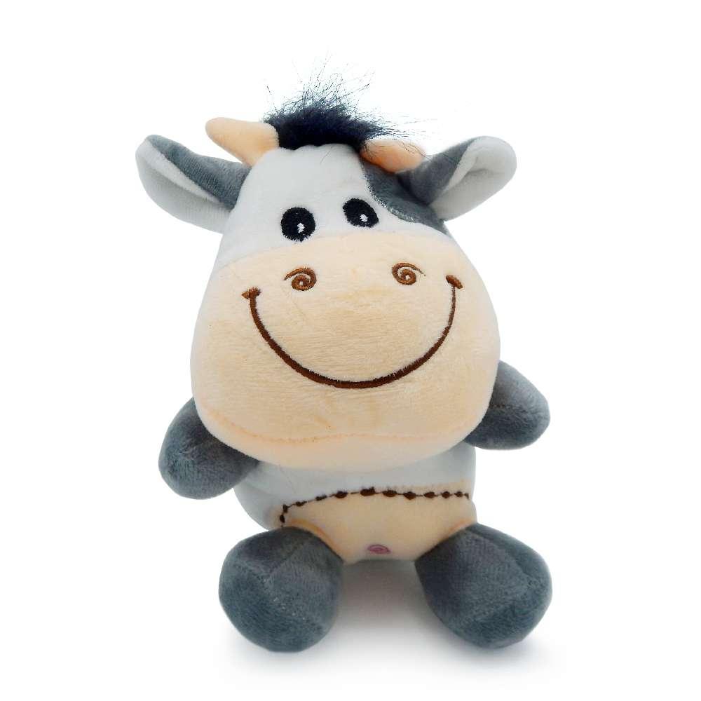 Bichinho de Pelúcia Meu Pet - Pet Toys - Vaca cinza
