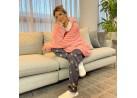 Blusão Poncho Sherpa com Capuz Adulto - Toalhas Appel - Rosa seda