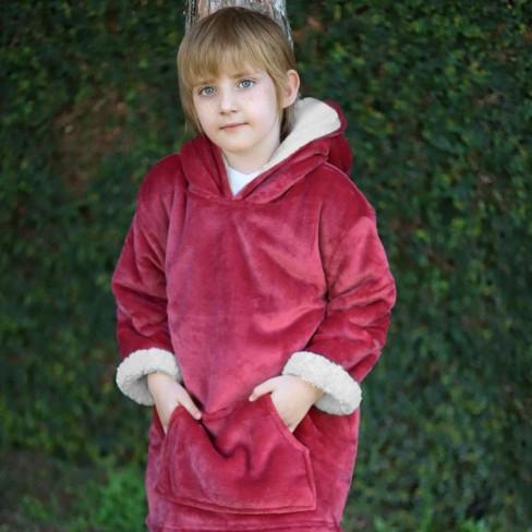 Blusão Poncho Sherpa com Capuz Infantil - Toalhas Appel - Batom