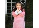Blusão Poncho Sherpa com Capuz Infantil - Toalhas Appel - Rosa seda