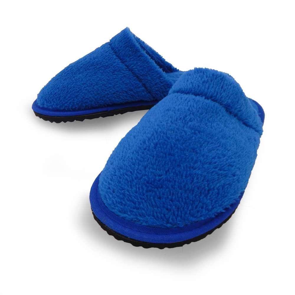 Chinelo Pantufa Microfibra Lisa - Appel - Azul