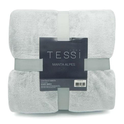 Cobertor Manta Alpes Casal 1,80x2,20 - Tessi - Cinza