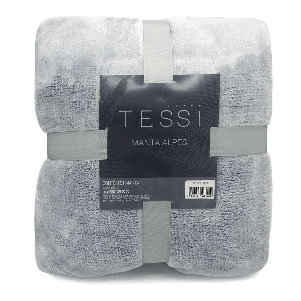 Cobertor Manta Alpes Solteiro 1,50x2,20 - Tessi - Azul