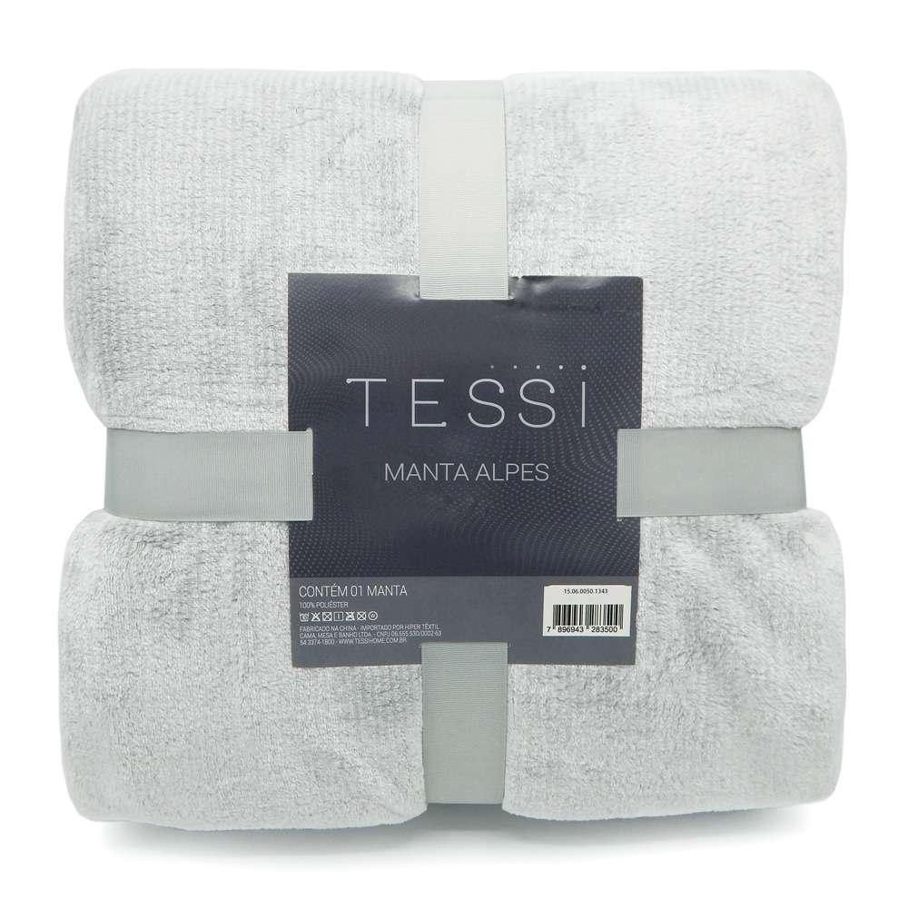 Cobertor Manta Alpes Solteiro 1,50x2,20 - Tessi - Grafite