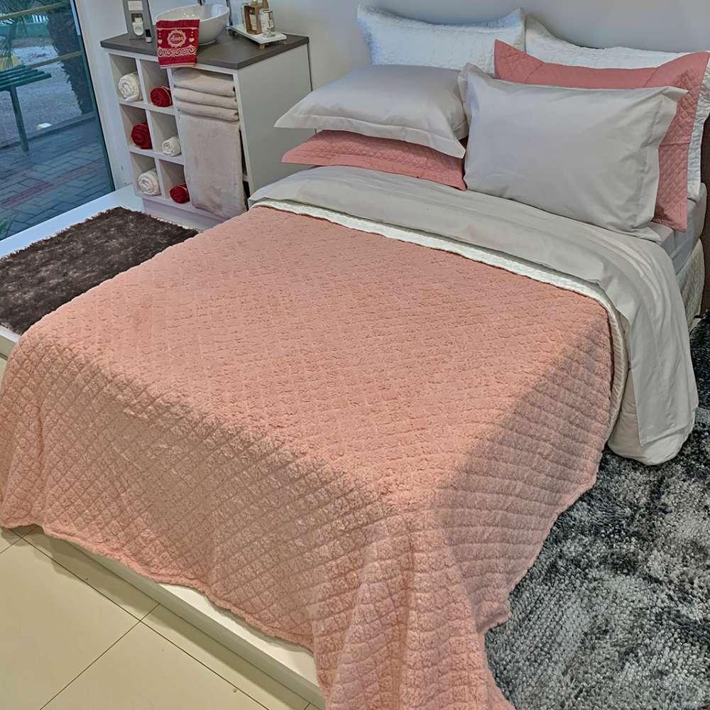 Cobertor Sherpa Blanket Casal 1,80x2,20 - Toalhas Appel - Mauva
