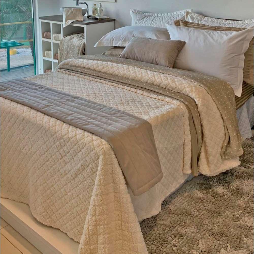 Cobertor Sherpa Blanket Casal 1,80x2,20 - Toalhas Appel - Natural