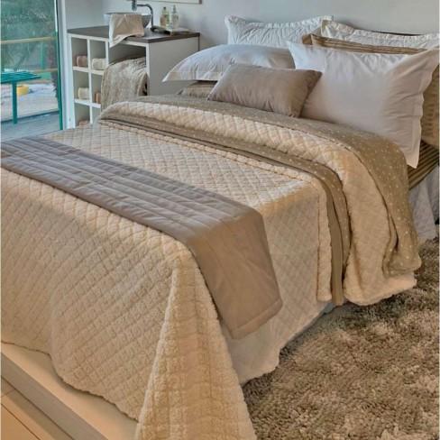 Cobertor Sherpa Blanket Queen 2,20x2,40 - Toalhas Appel - Natural