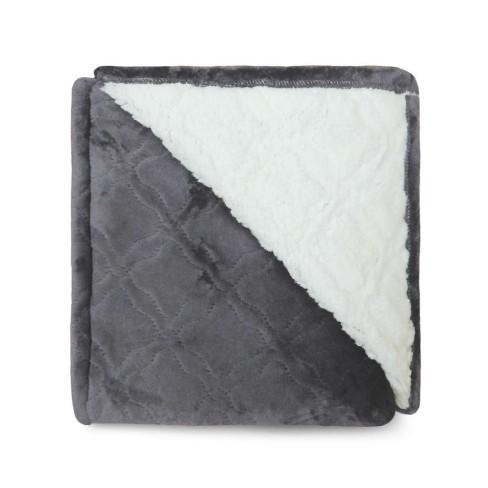 Cobertor Sherpa Glamour Casal 1,80x2,20 - Toalhas Appel - Chumbo