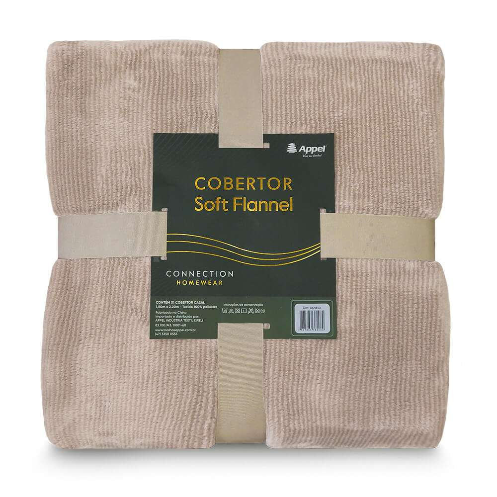 Cobertor Soft Flannel Cationic Queen 2,20x2,40 - Toalhas Appel - Canela