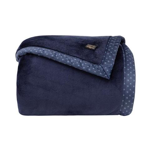 Cobertor Toque de Seda Blanket 700 Queen - Kacyumara - Marinho