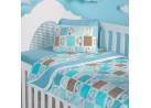 Edredom Malha 120g/m² Berço - Sulbrasil - Ovelha azul