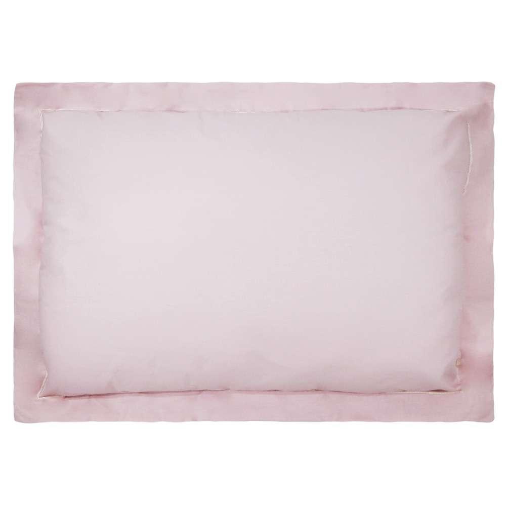 Fronha Percal 300 fios com aba e aplicação soutache 50x70 - Appel - Rosa quartzo