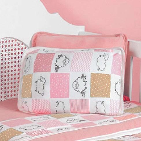 Fronha para Berço Malha 120g/m² - Sulbrasil - Ovelha rosa