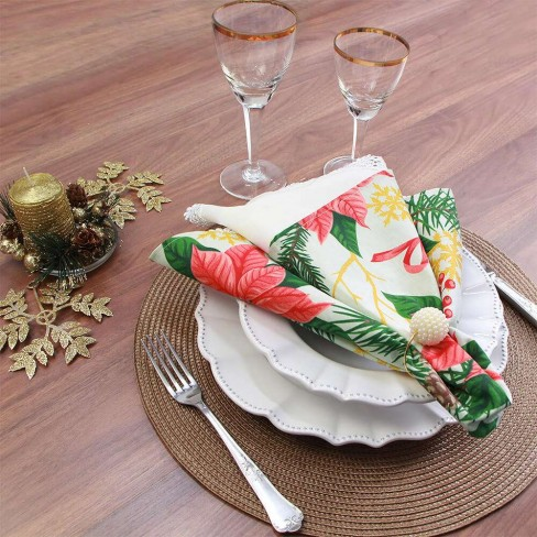 Guardanapo de tecido 46x46 - Appel - Natal perola