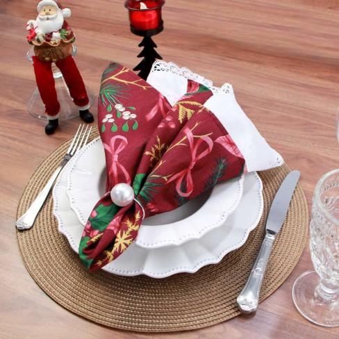 Guardanapo de tecido 46x46 - Appel - Natal vermelha