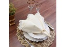 Guardanapo de tecido com detalhe em renda Guipir 51x51 - Appel - Perola