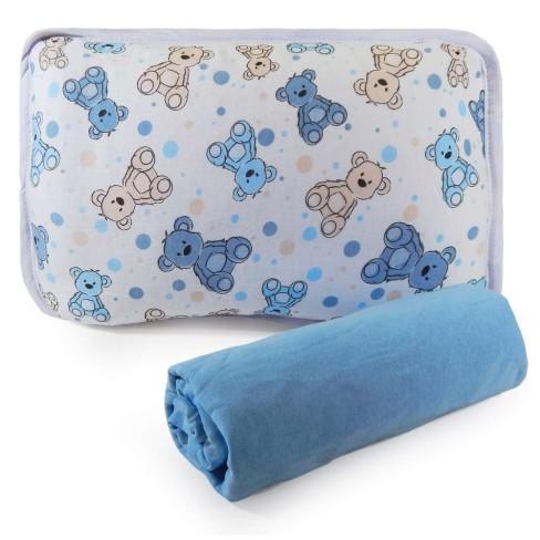 Jogo de Cama Malha Berço 2 Peças - Sulbrasil - Urso azul
