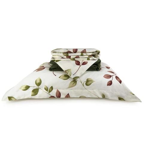 Jogo de Cama Percal 200 Fios Algodão King - Appel - 2954 verde floral