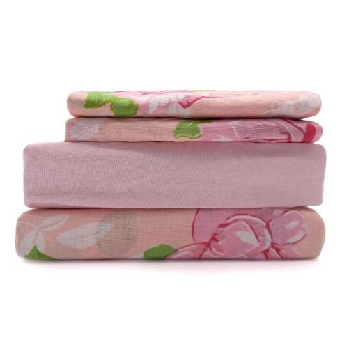 Jogo de Cama Queen Premium Plus - Estamparia - Floral/rosa