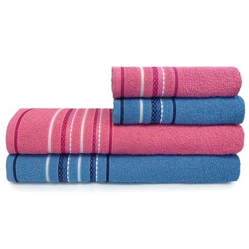 Jogo de Toalhas 4 Peças Nice - Toalhas Appel - Azul/rosa