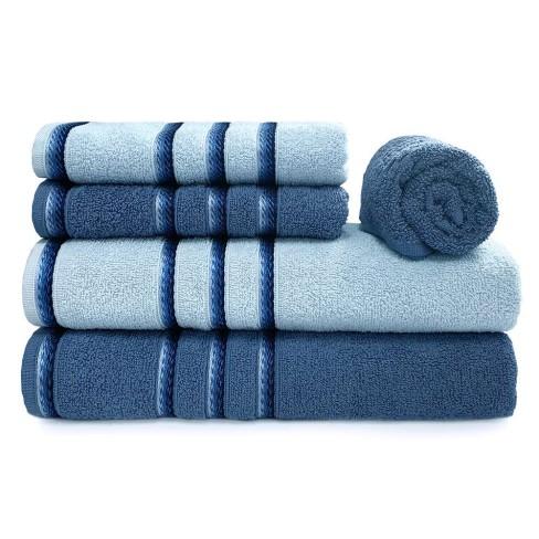 Jogo de Toalhas Banhão 5 Peças Classic - Appel - Azul infinity/azul polar