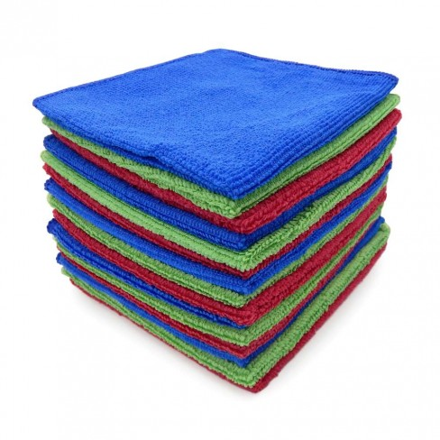 Kit 15 Panos de Limpeza Multiuso 30x30 Ultra Absorvente - Camesa - Azul