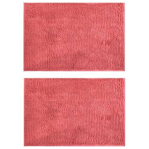 Kit 2 Tapete Base Antiderrapante Latex Popcorn 40x60 - Toalhas Appel - Rosa blush