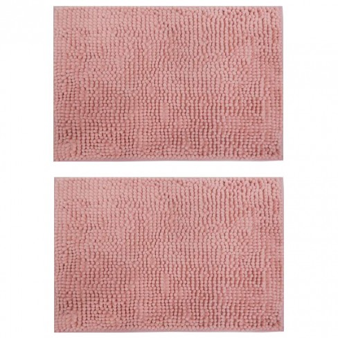 Kit 2 Tapete Base Antiderrapante Latex Popcorn 40x60 - Toalhas Appel - Rosa claro