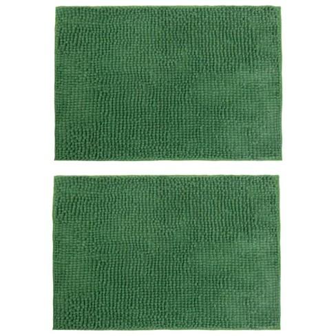 Kit 2 Peças Tapete Base Antiderrapante Latex Popcorn 50x100 - Toalhas Appel - Verde
