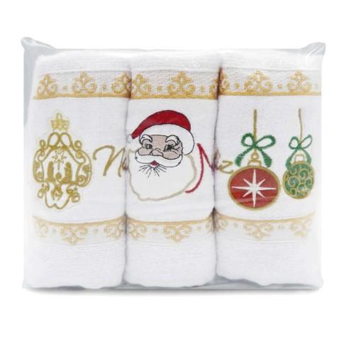 Kit 3 peças Toalha de Lavabo Natal - Appel - Branco