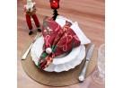 Kit 4 Argolas com pérolas porta guardanapo de tecido - Appel - Branco liso