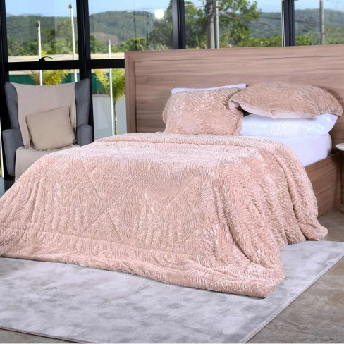 Kit Cobreleito Slim Peles King - Tessi - Taupe