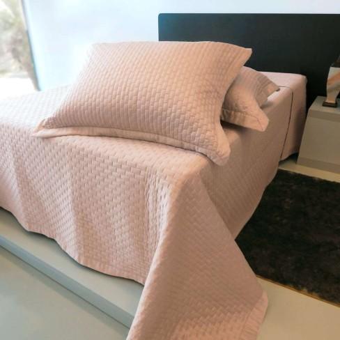 Kit Colcha Diamond Matelada com costura Solteiro - Toalhas Appel - Rosê pale