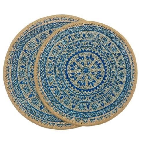Kit Descanso de Panela 2 peças Nova Mesa - Kacyumara - Azul claro