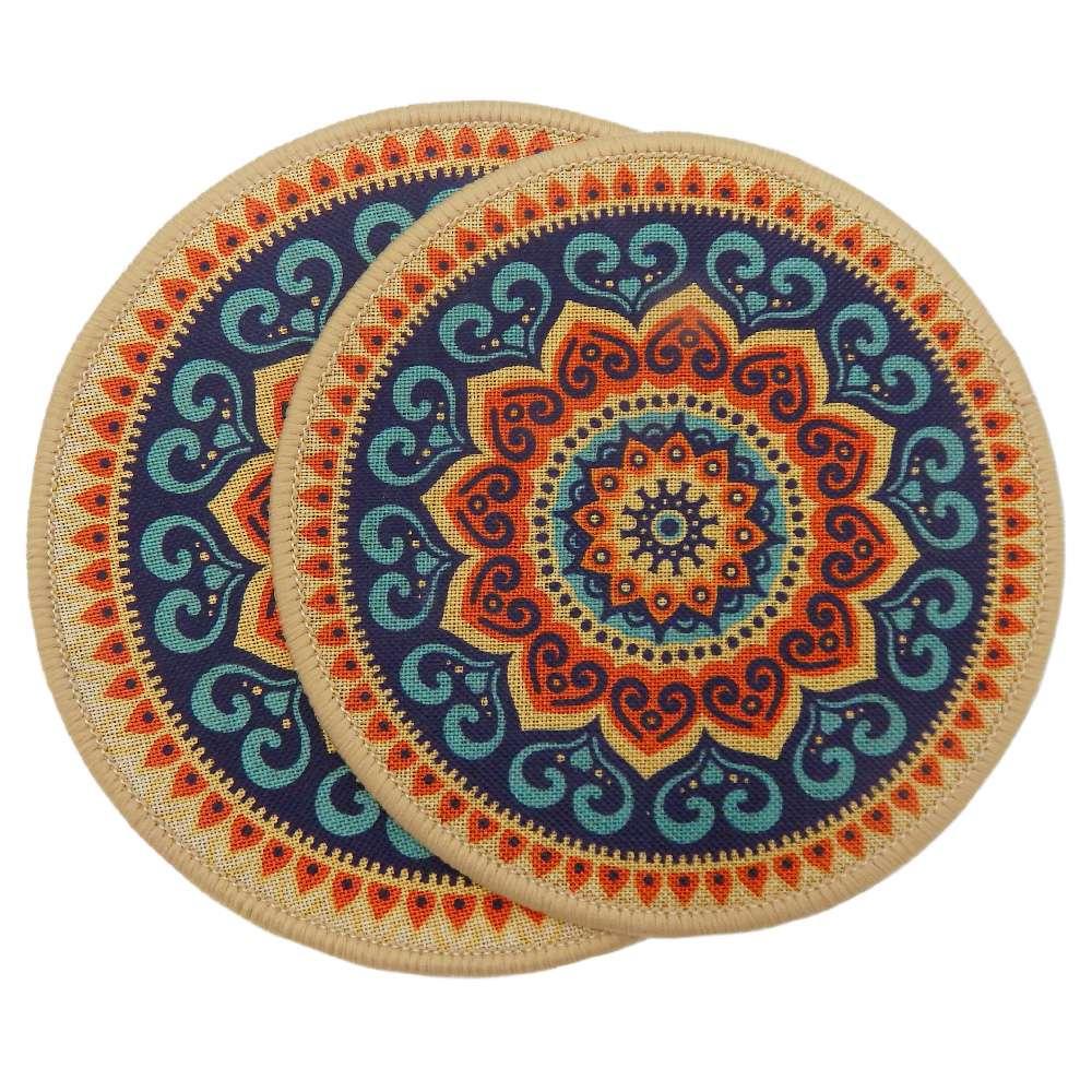 Kit Descanso de Panela 2 peças Nova Mesa - Kacyumara - Colorida/azul