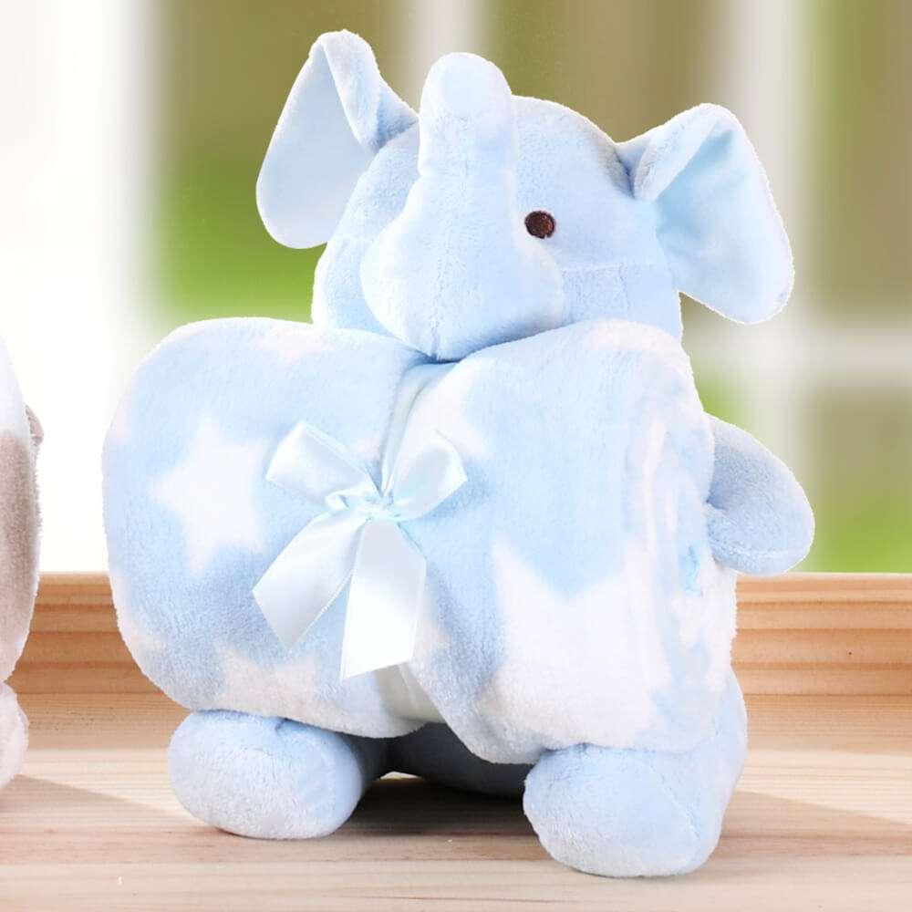 Kit Manta Baby c/ Bichinho de Pelúcia - Bene Casa - Elefante