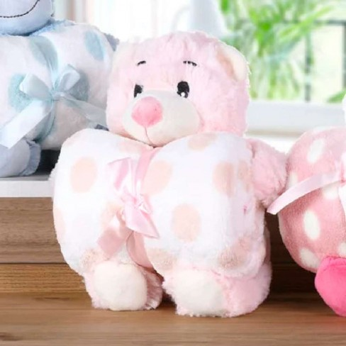 Kit Manta Baby c/ Bichinho de Pelúcia - Bene Casa - Ursinha dorminhoca