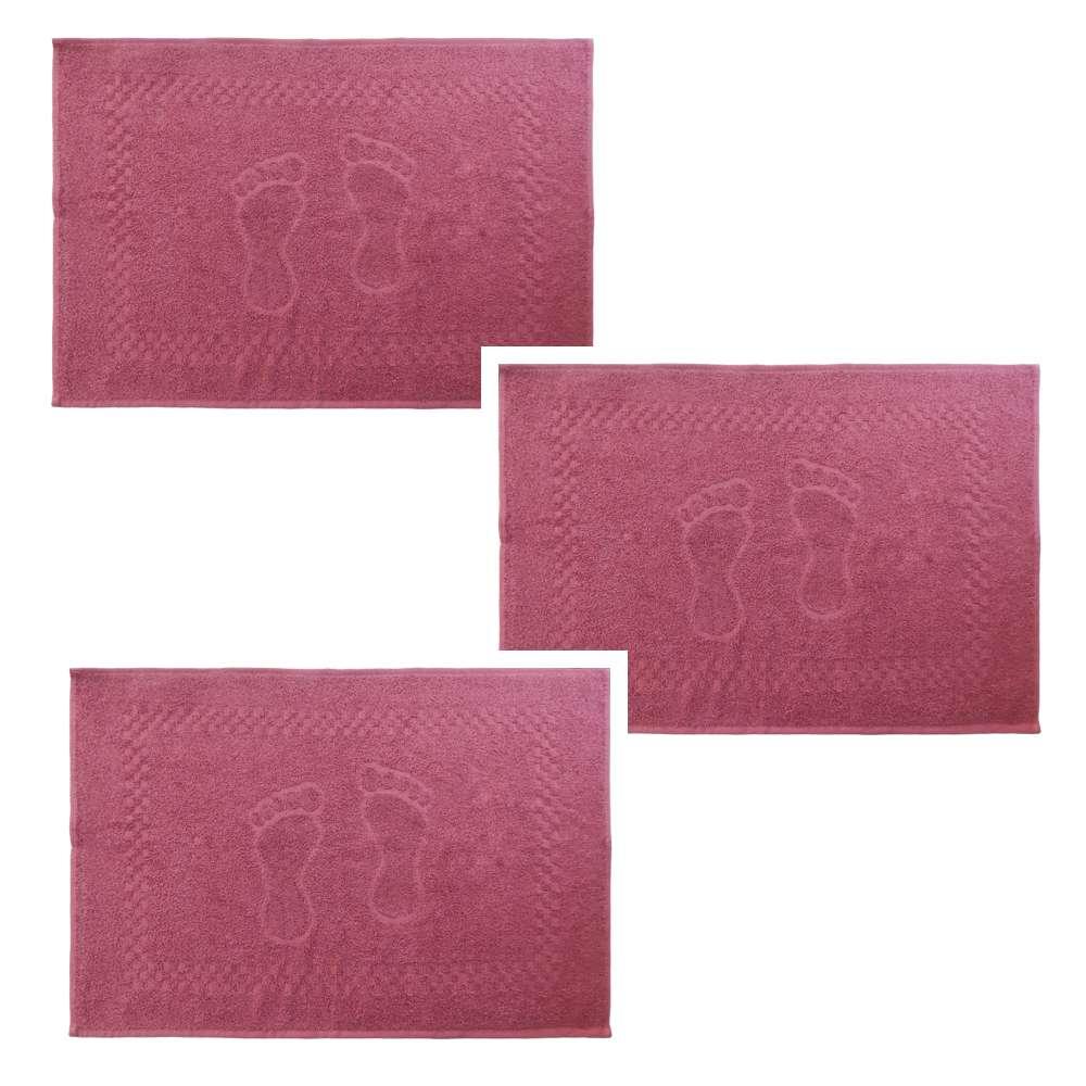 Kit Toalha de Piso 3 Peças Pezinho 45x68 - Toalhas Appel - Rosa glamour