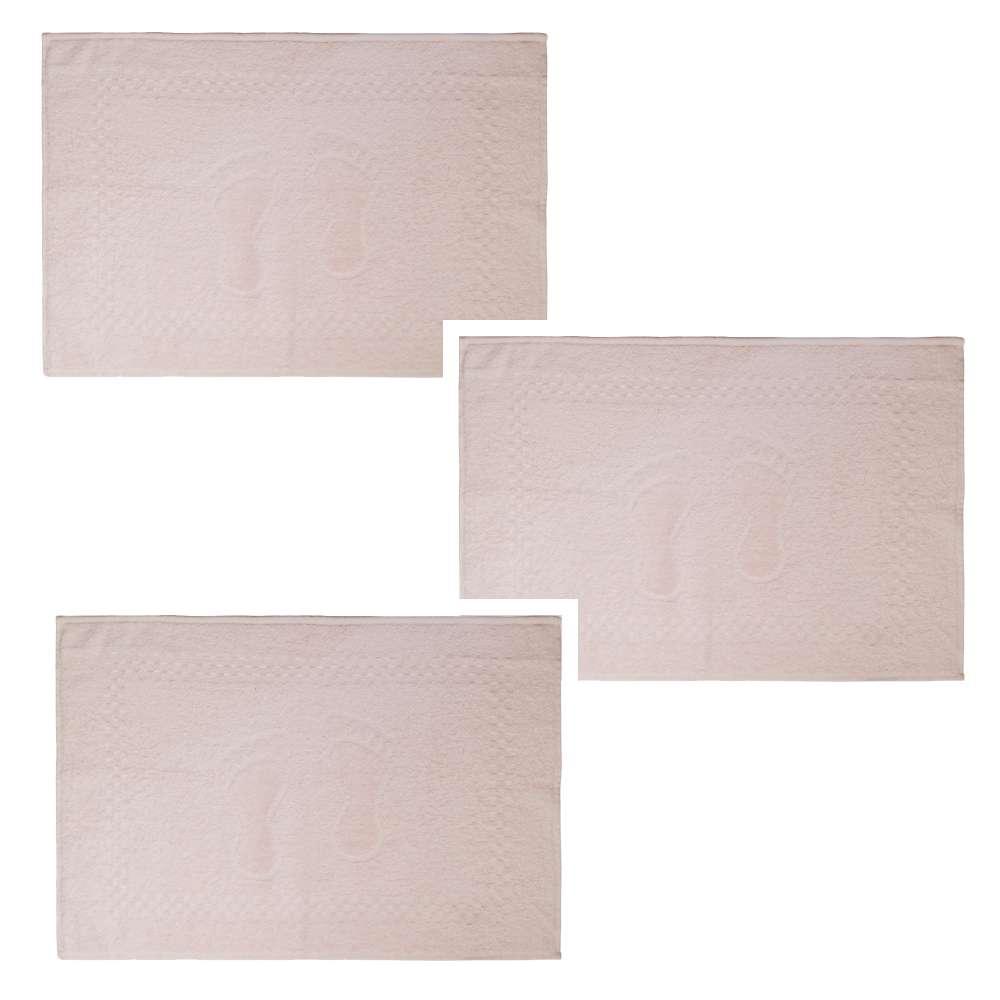 Kit Toalha de Piso 3 Peças Pezinho 45x68 - Toalhas Appel - Rose