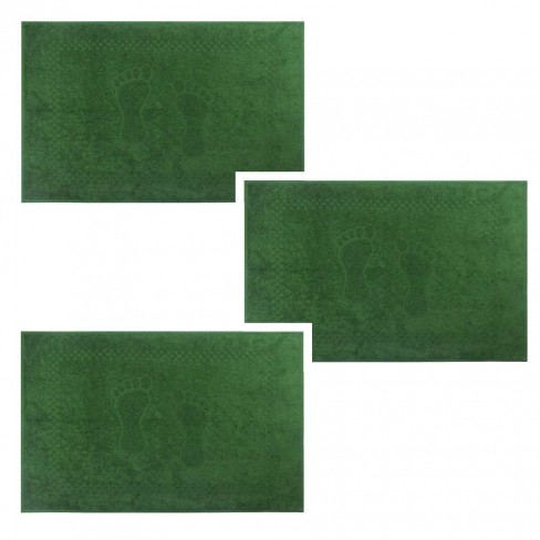 Kit Toalha de Piso 3 Peças Pezinho 45x68 - Toalhas Appel - Verde musgo