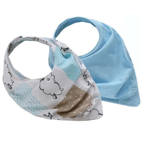 Kit com 2 Babador Baby - Sulbrasil - Ovelha azul