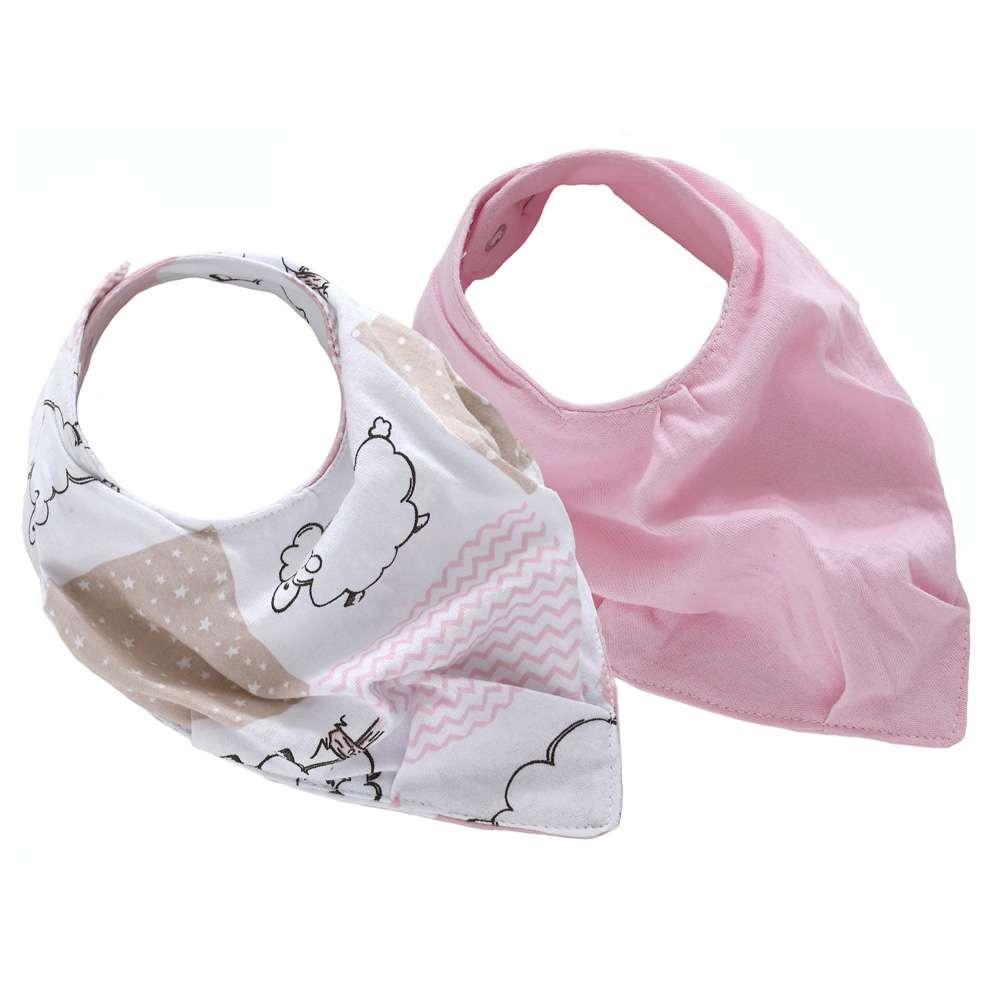 Kit com 2 Babador Baby - Sulbrasil - Ovelha rosa