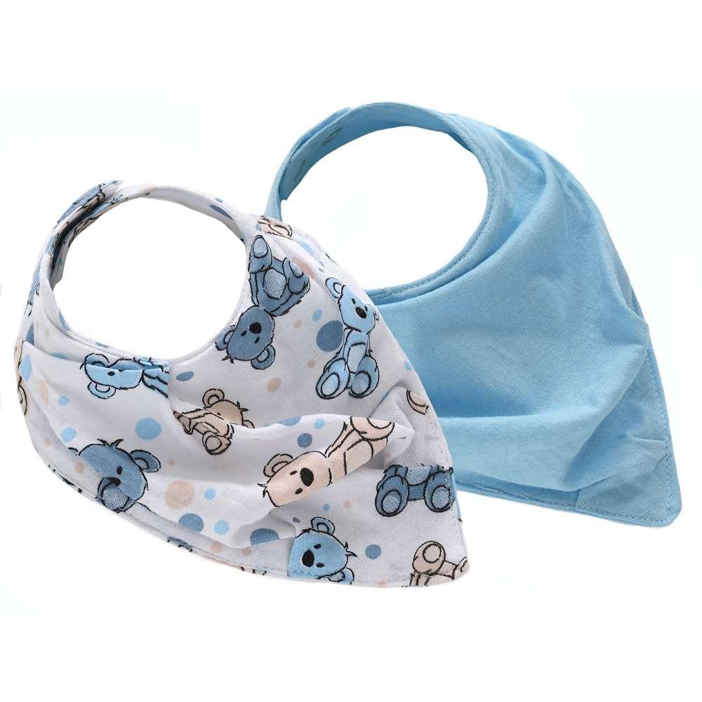 Kit com 2 Babador Baby - Sulbrasil - Urso azul