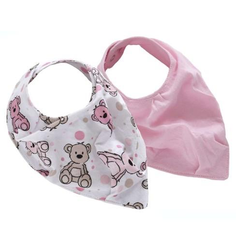 Kit com 2 Babador Baby - Sulbrasil - Urso rosa