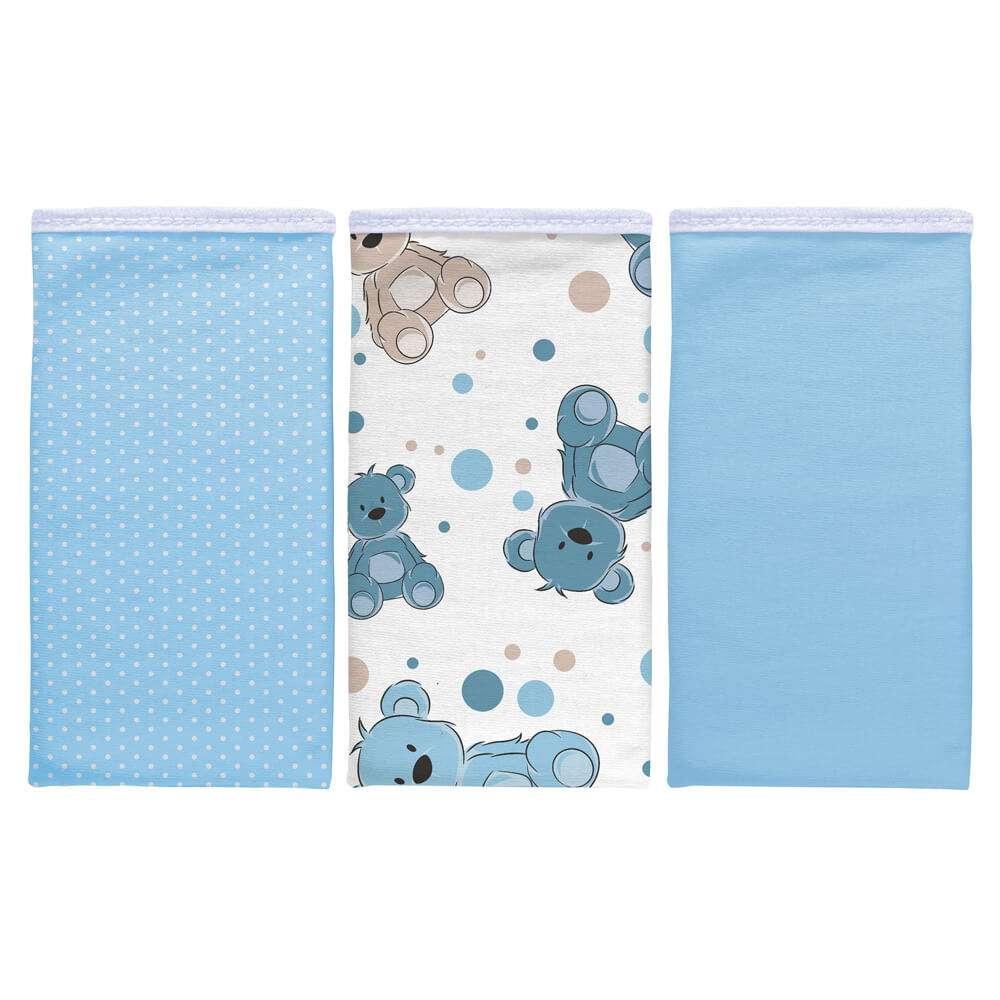 Kit pano de boca 3 peças - Sulbrasil - Urso azul