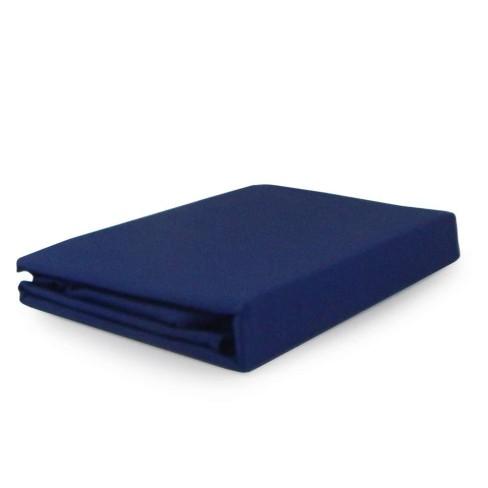 Lençol Liso Percal 200 Fios King - Buettner - Azul