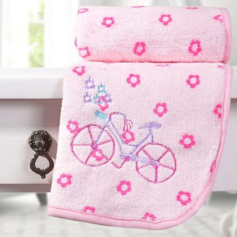 Manta Microfibra Bebê Bordada - Bene Casa - Bicicleta