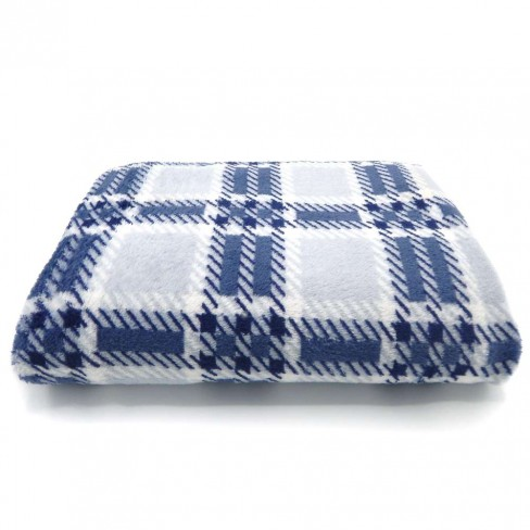 Manta Microfibra TV - Bene Casa - Xadrez azul